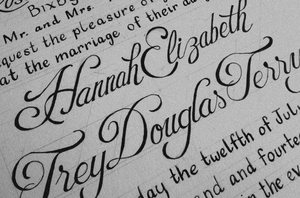 Hand-Lettered Wedding Invitation Process